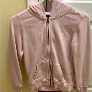 baby pink polo zip up hoodie !💗